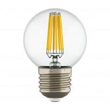933822 Лампа LED FILAMENT 220V G50 E27 6W=65W 400-430LM 360G CL 2800K 30000H (в комплекте)